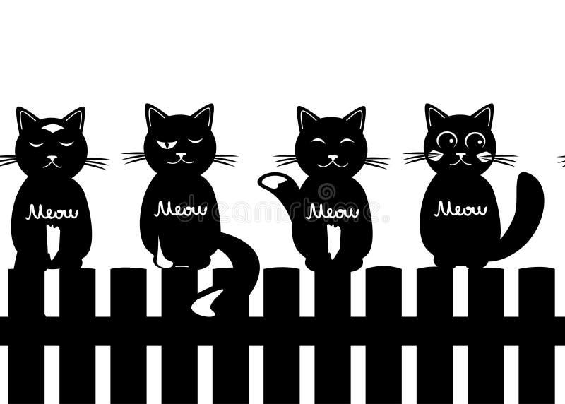 Netter nahtloser Musterhintergrund mit Katzen vektor abbildung