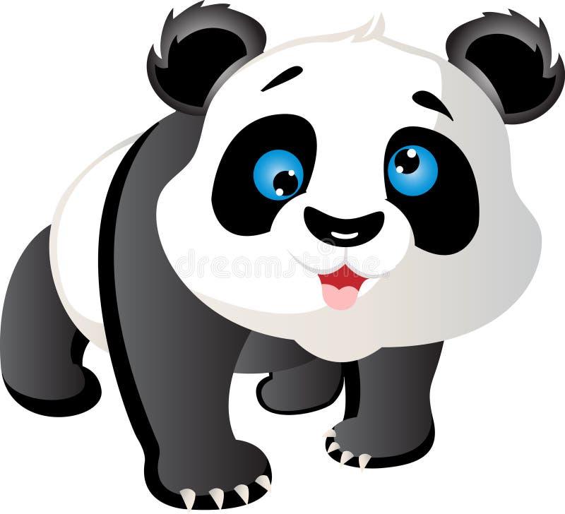 Netter Panda des Handabgehobenen betrages lizenzfreie abbildung