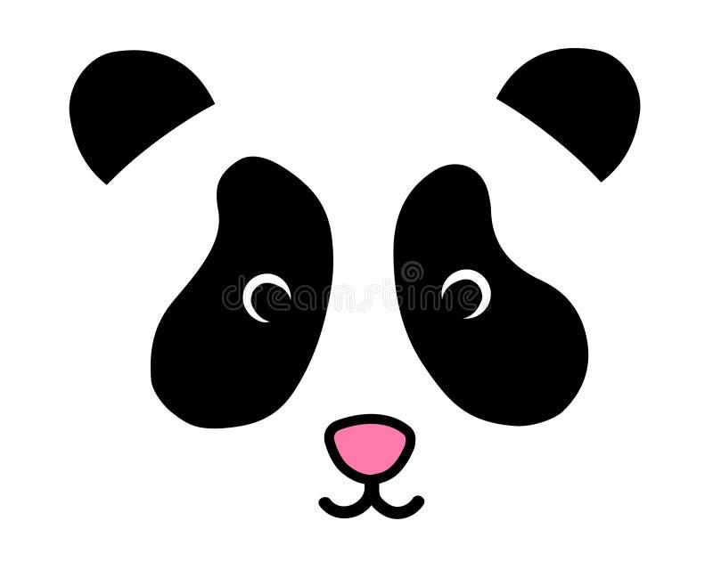 Netter Pandabär ` s Kopfvektor lizenzfreie abbildung