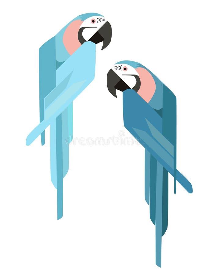 Netter Papagei - flacher Entwurf der Vektorillustration vektor abbildung