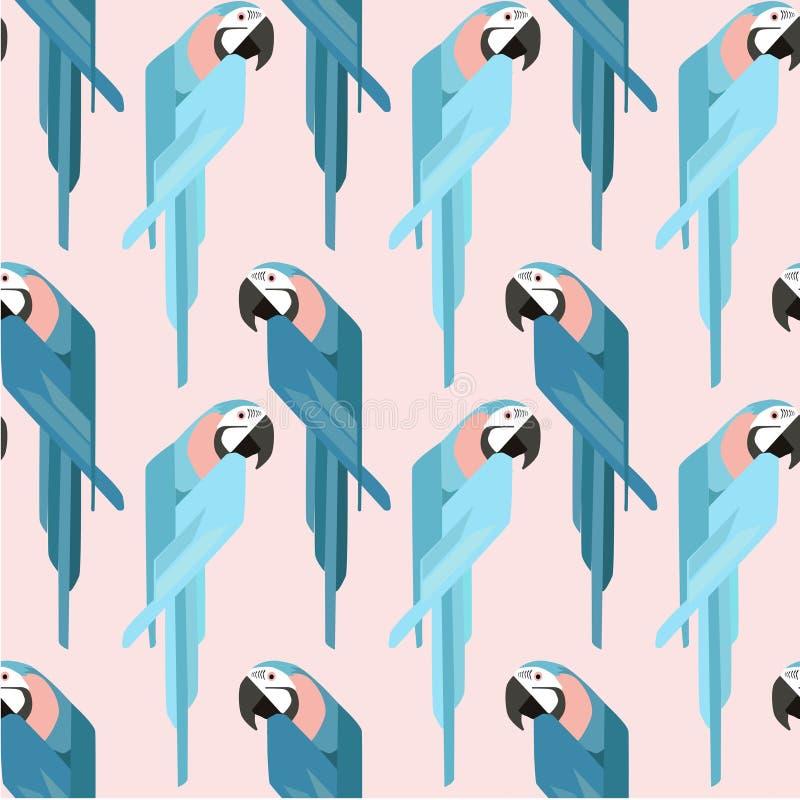 Netter Papagei - flacher Entwurf der Vektorillustration lizenzfreie abbildung