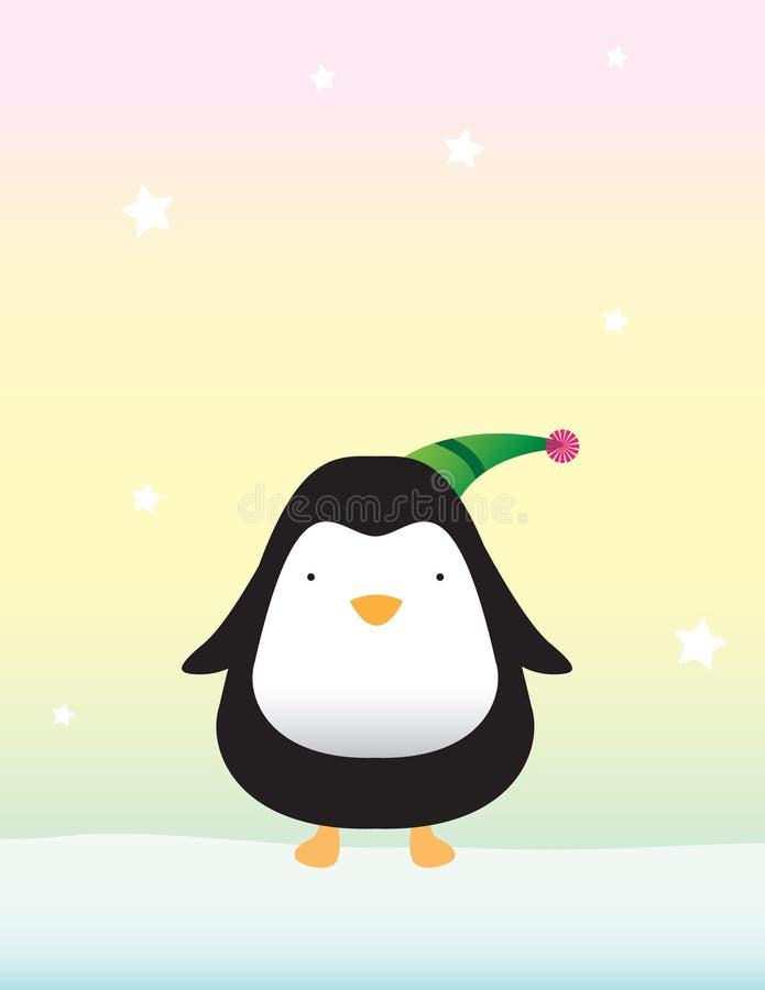 Netter Pinguin auf Schnee stock abbildung