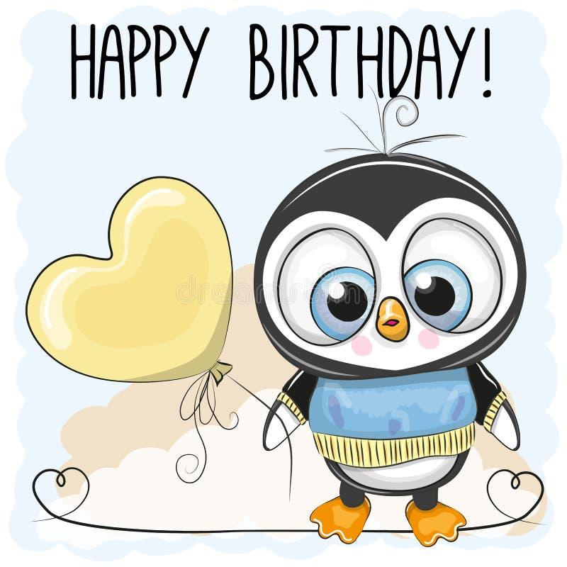 Netter Pinguin-Junge mit einem Ballon