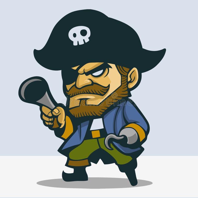 Netter Pirat vektor abbildung