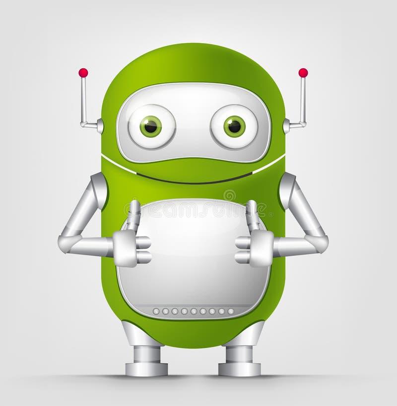Netter Roboter lizenzfreie abbildung