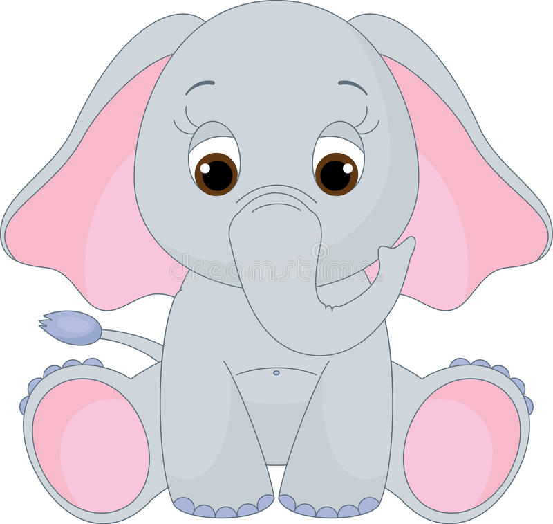 Netter Schätzchenelefant lizenzfreie abbildung
