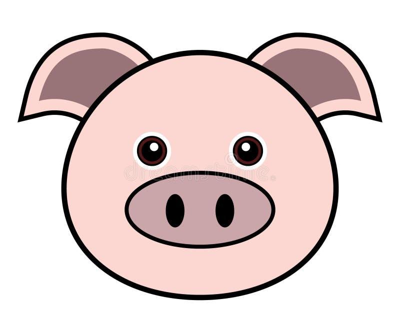 Netter Schwein-Vektor lizenzfreie abbildung