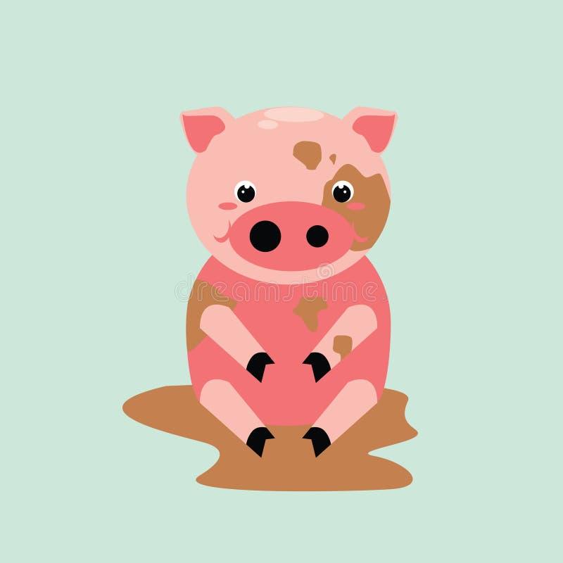 Netter Schweincharakter stockfoto