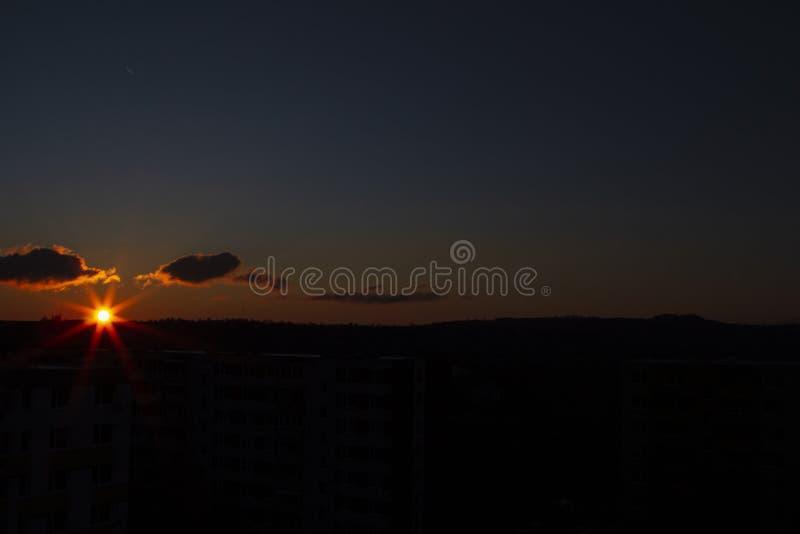 Netter Sonnenaufgang 2019 lizenzfreies stockbild