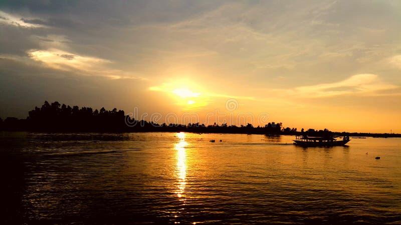 Netter Sonnenuntergang stockfotos