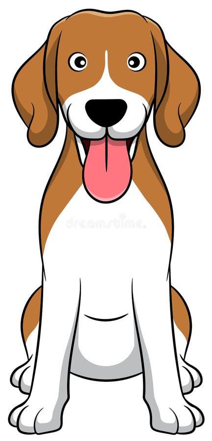 Netter Spürhund-Karikatur-Hund Dieses hohe Auflösungbild wurde im ROHEN Format für maximale Bildqualität geschossen vektor abbildung