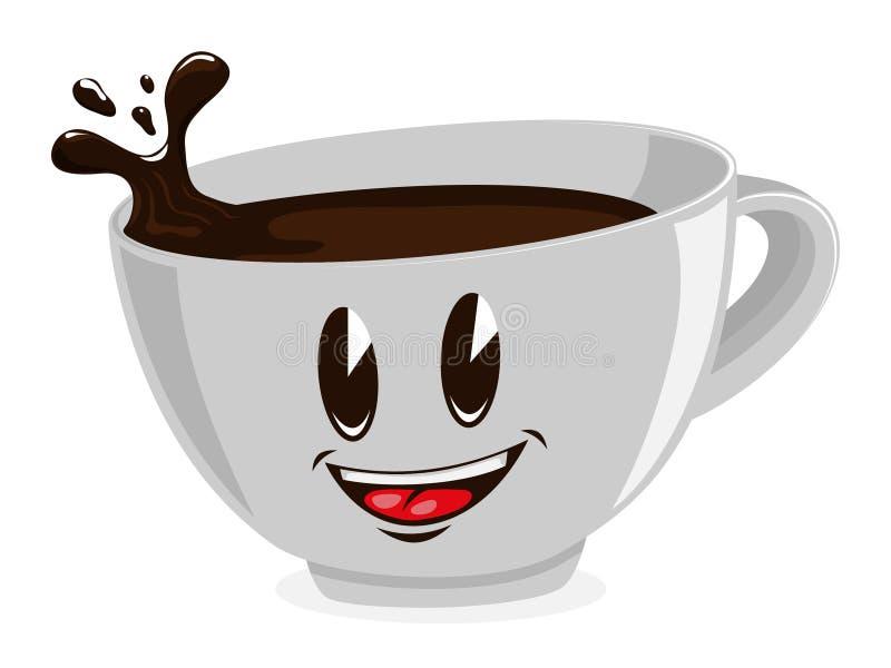 Netter Tasse Kaffee lizenzfreie abbildung