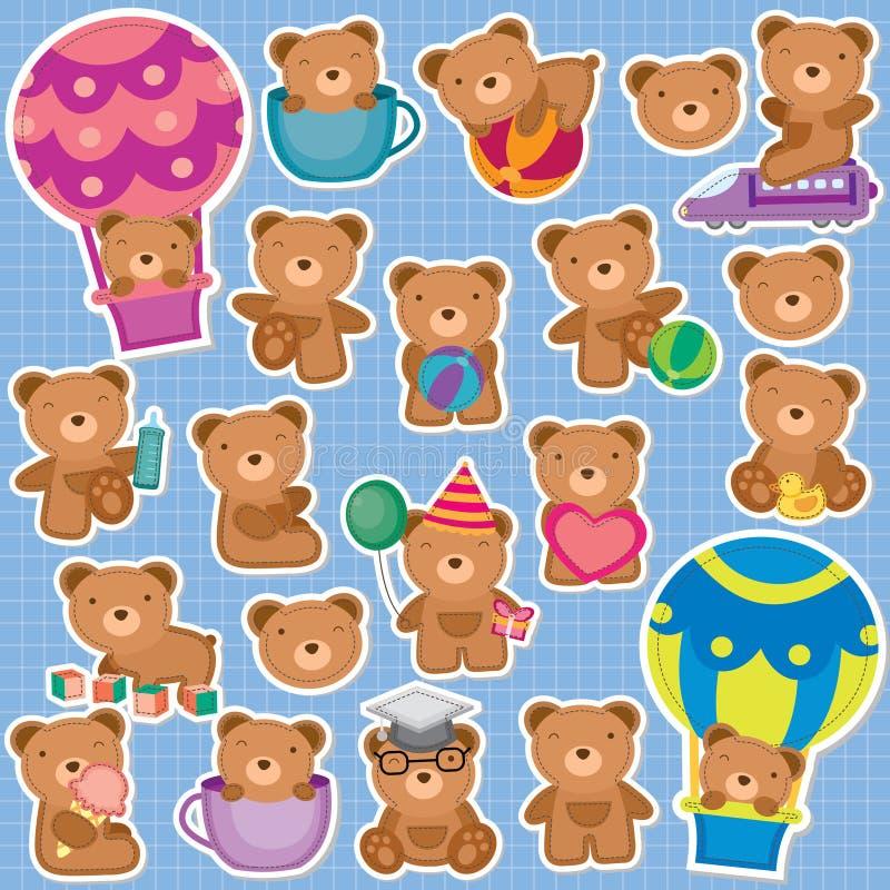 Netter Teddy Bear Klipp Art stock abbildung