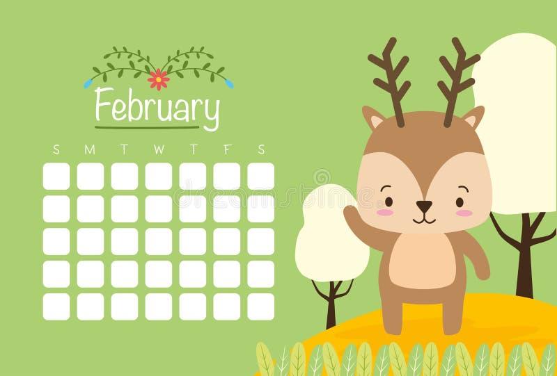 Netter Tierkalender vektor abbildung