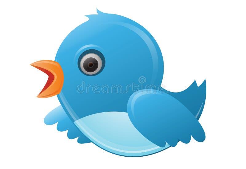 Netter Twittervogel lizenzfreie abbildung