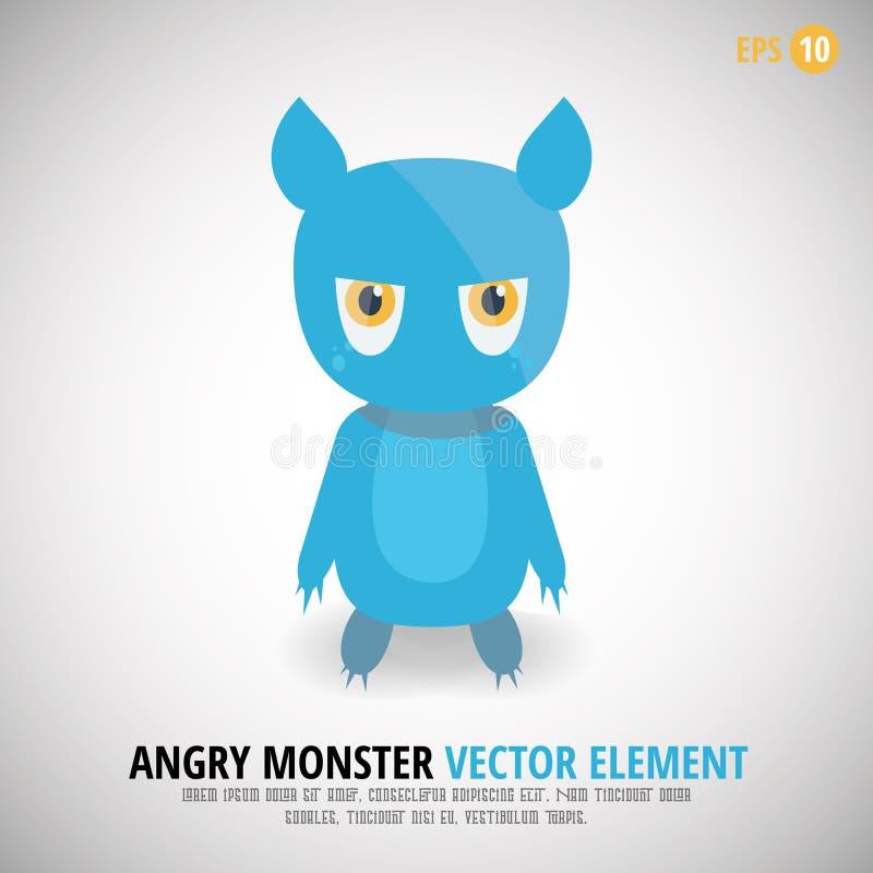 Netter verärgerter Monster-Charakter lizenzfreie stockbilder