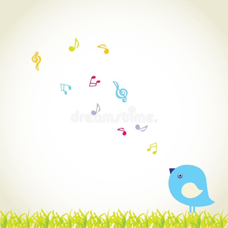 Netter Vogel singen ein Liebeslied stock abbildung