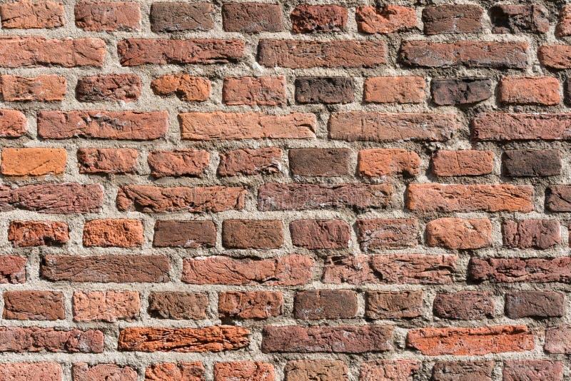 Netter Wand-Beschaffenheitsschmutzhintergrund des roten Backsteins stockfoto