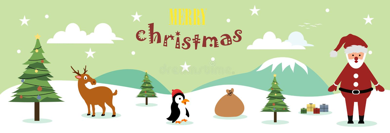Netter Weihnachtshintergrund lizenzfreie abbildung