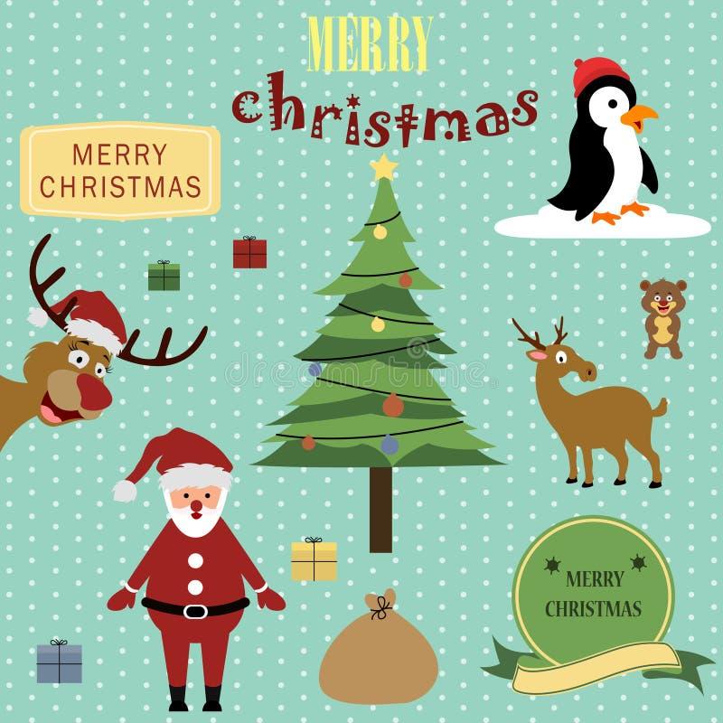 Netter Weihnachtshintergrund stock abbildung