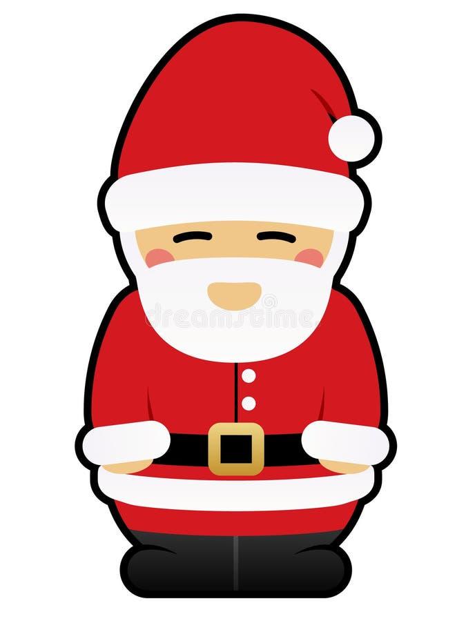 Netter Weihnachtsmann lizenzfreie abbildung