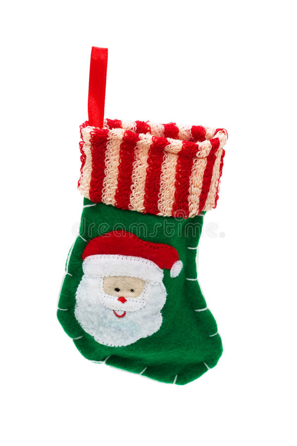 Netter Weihnachtsstrumpf stockbild