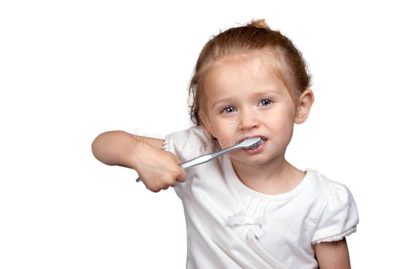 Netter Zahnpflege stockfoto