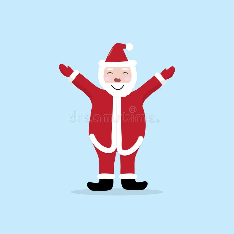 Netter Zeichentrickfilm-Figur-Vektor Santa Clauss F?r Weihnachtskarten, Fahnen, Tags und Aufkleber vektor abbildung