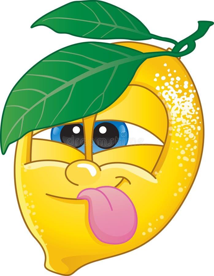 Karikatur-Zitrone lizenzfreie abbildung