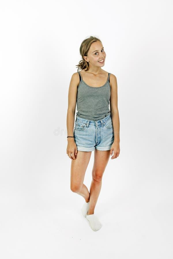 Nettes attraktives junges Mädchen stockfoto