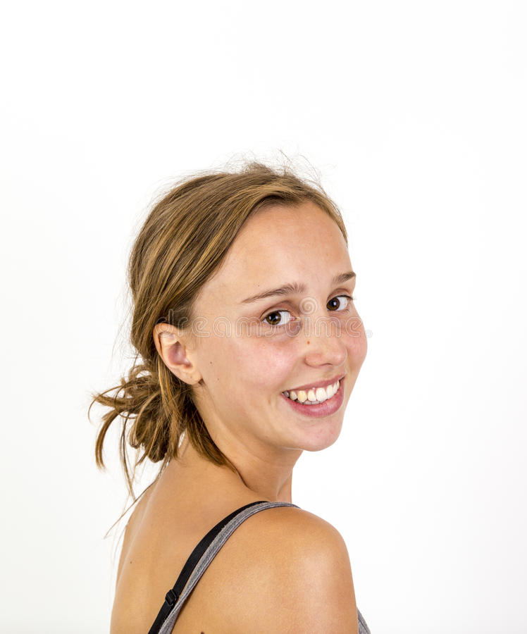 Nettes attraktives junges Mädchen lizenzfreie stockbilder