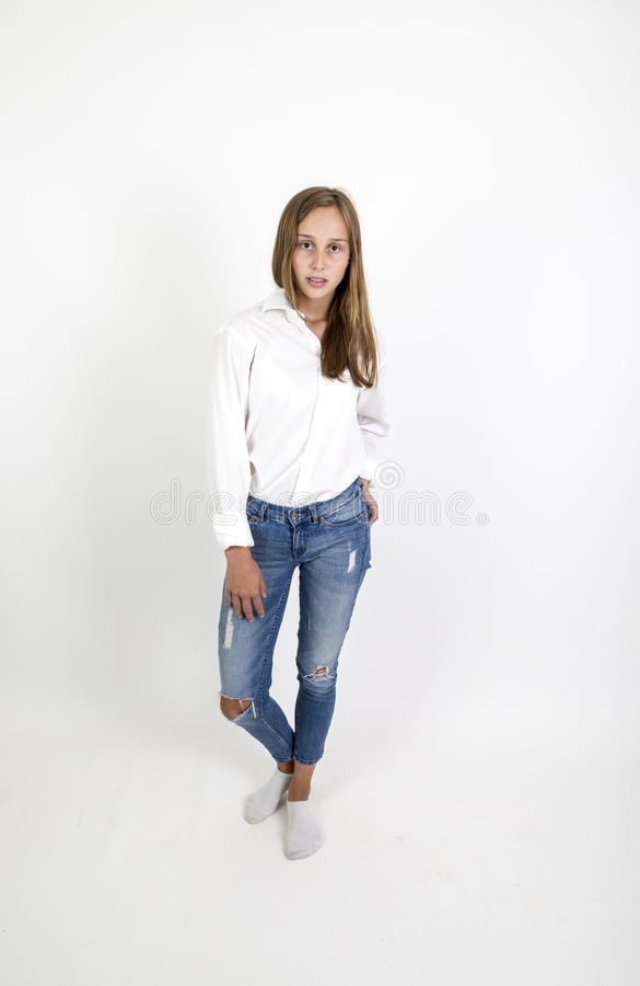Nettes attraktives junges Mädchen lizenzfreie stockfotos