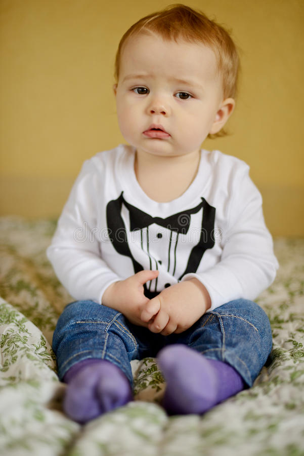 Nettes Baby stockbild