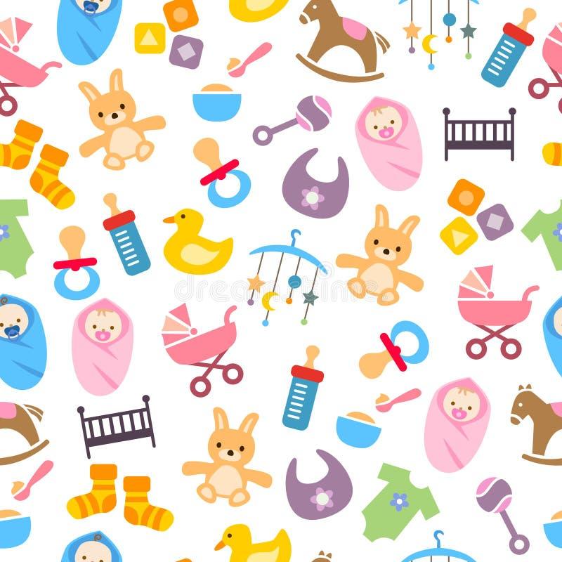 Nettes Baby-Muster stock abbildung