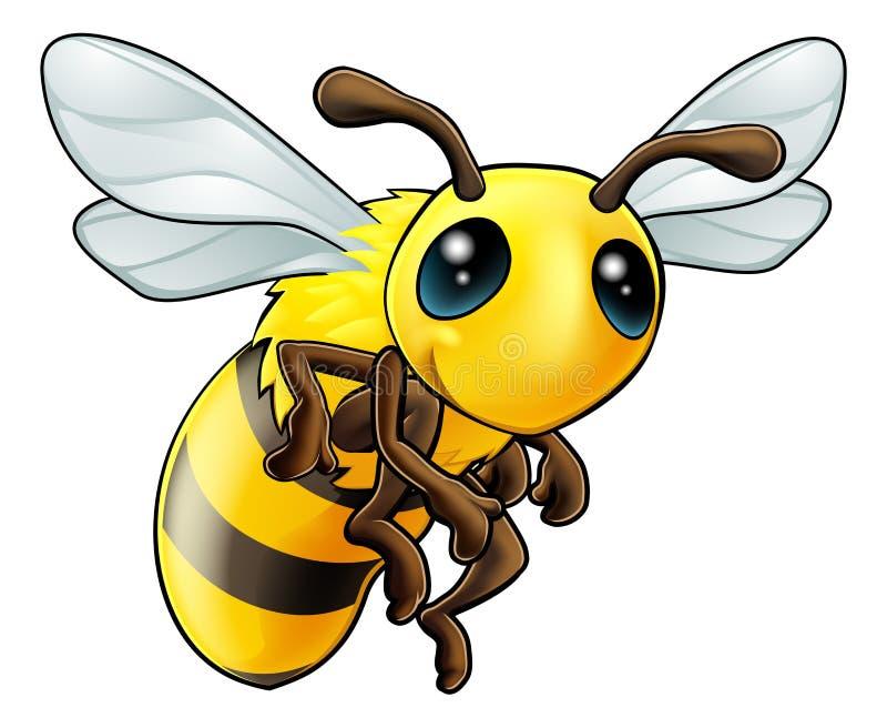 Nettes Bienen-Zeichen lizenzfreie abbildung