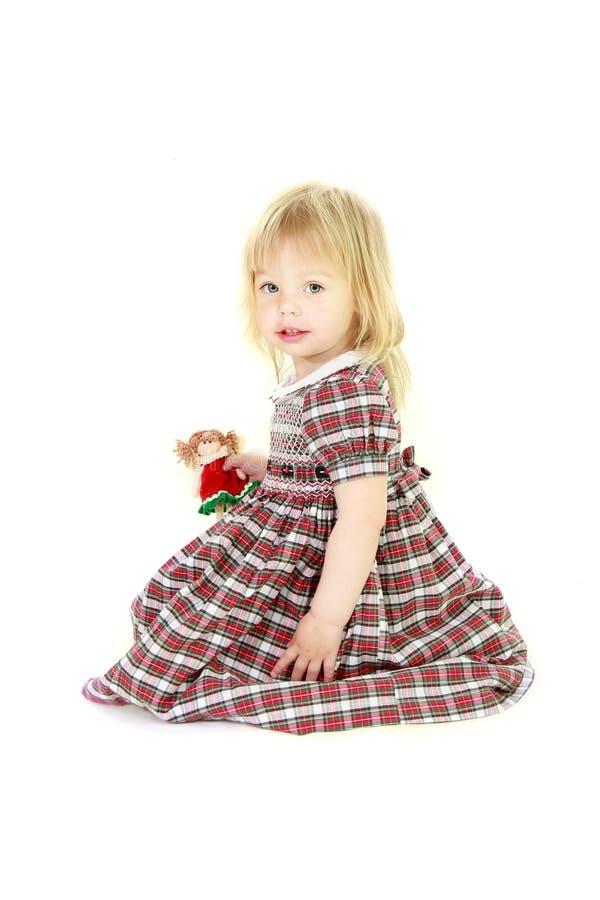 Nettes blondes Kleinkindmädchen lizenzfreies stockbild