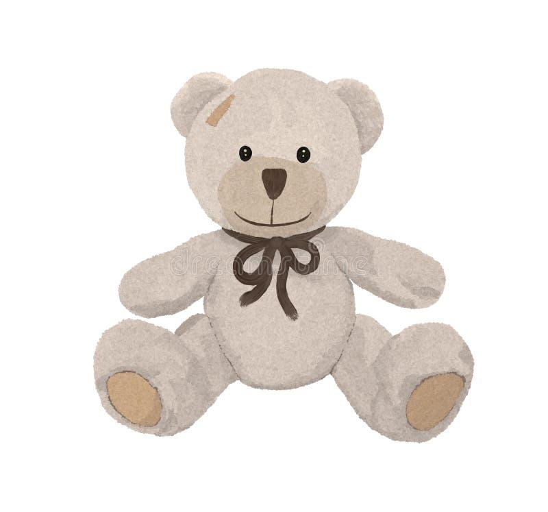 Nettes braunes Tier des Toy Bear-Spielzeugteddybären vektor abbildung