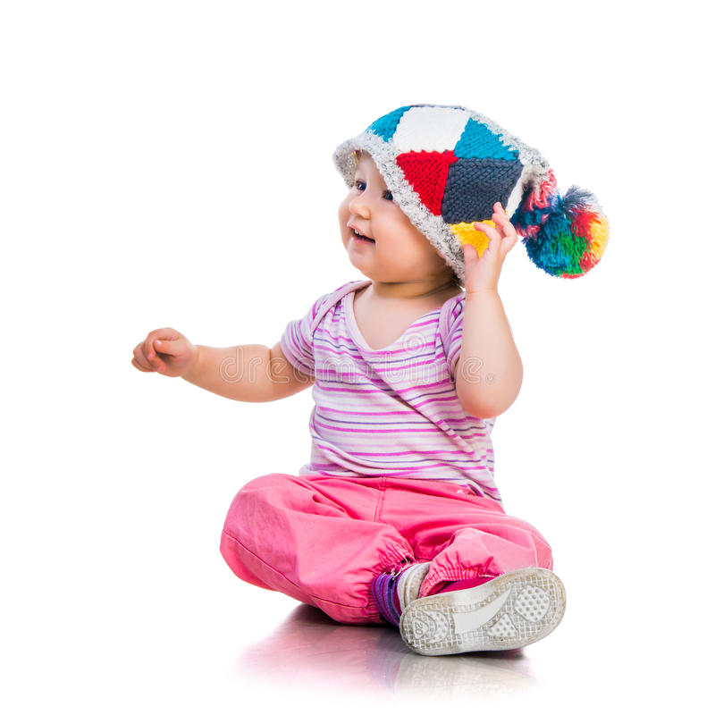 Nettes einjähriges Mädchen stockfotografie
