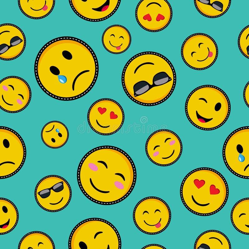 Nettes emoji entwirft nahtloses Muster vektor abbildung