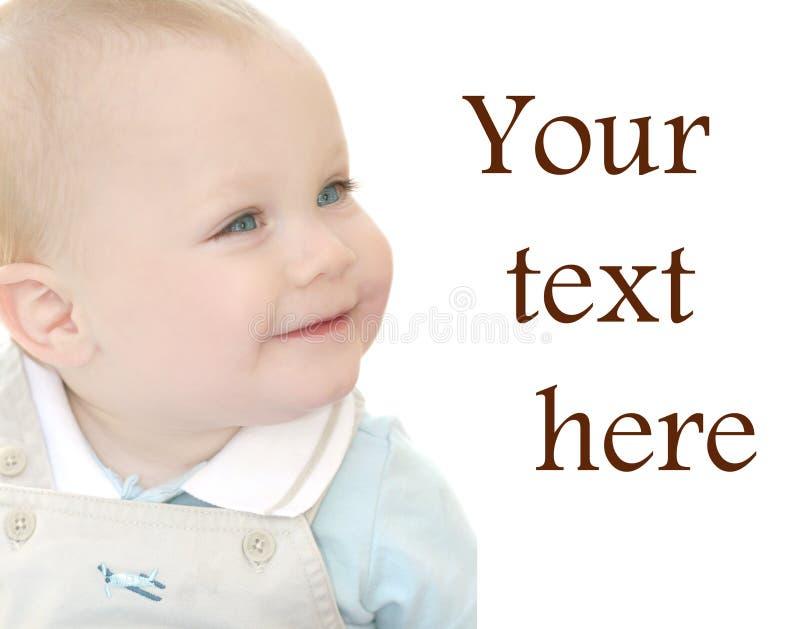 Nettes, entzückendes Baby mit blauen Augen lizenzfreies stockbild