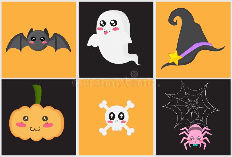 Nettes Halloween-Set lizenzfreie abbildung