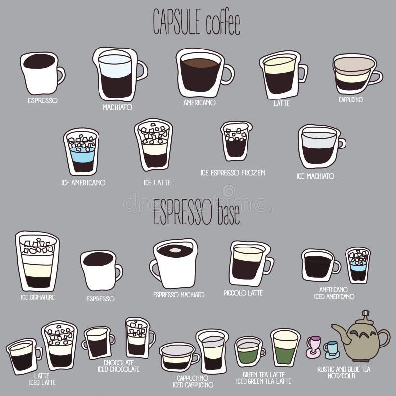 Nettes Kaffeemenü stock abbildung
