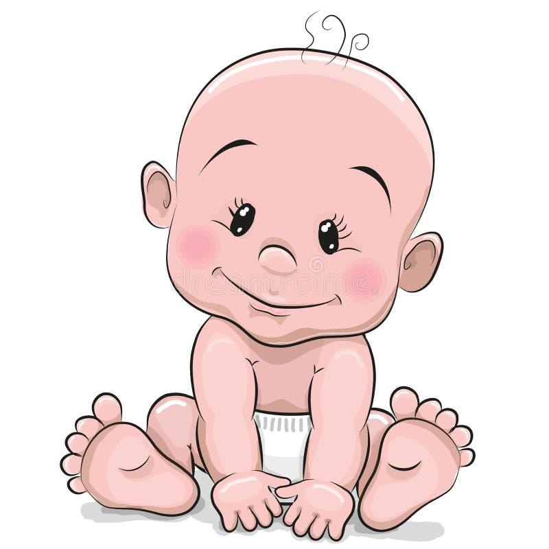 Nettes Karikatur-Baby vektor abbildung