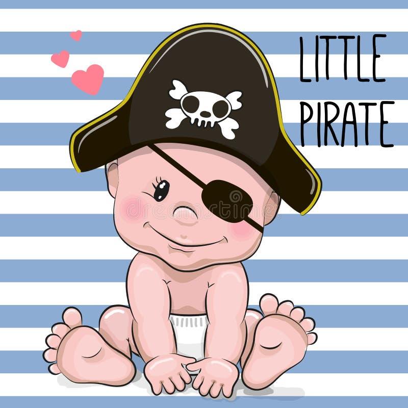 Nettes Karikatur-Baby lizenzfreie abbildung