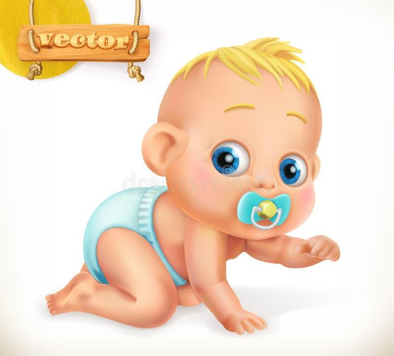 Nettes Kind Baby Übersetzt Ikone lizenzfreie abbildung