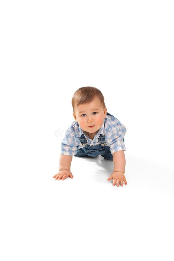 Download Nettes Kleines Baby Auf Einem Weiß Stockbild - Bild von unschuldig, schön: 26372477