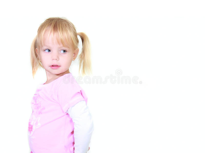 Nettes Kleinkindmädchen lizenzfreie stockbilder