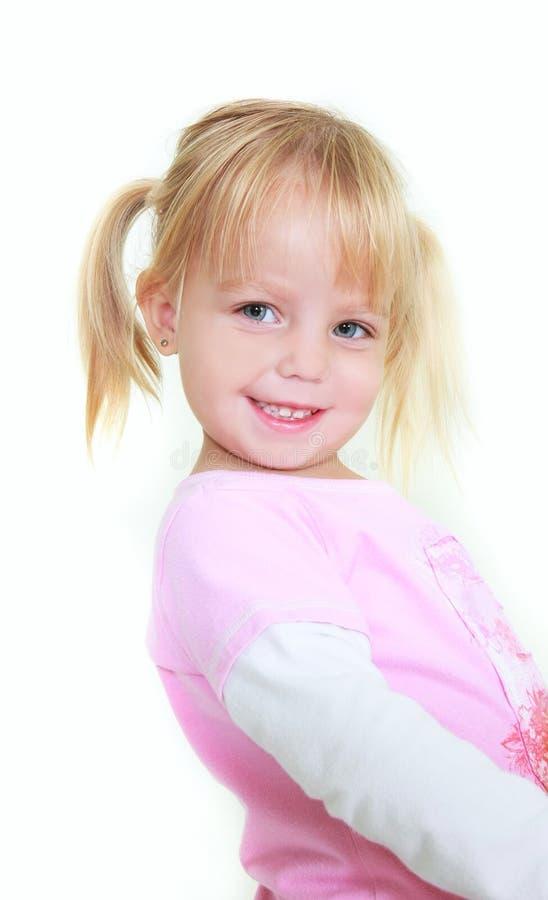 Nettes Kleinkindmädchenportrait stockbild