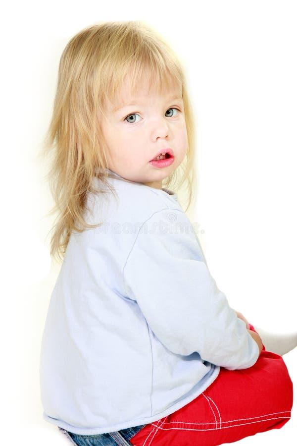 Nettes Kleinkindmädchenportrait lizenzfreie stockfotografie