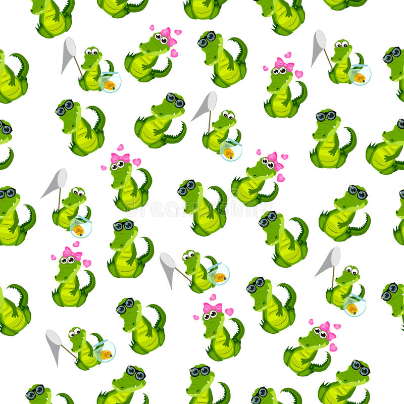 Nettes Krokodil oder Alligator vektor abbildung